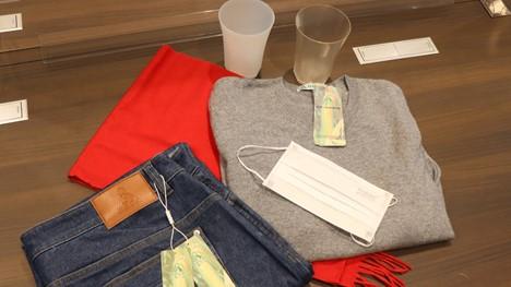 Tập đoàn BBCA của Trung Quốc đã sản xuất nguyên mẫu mặt nạ, cốc và quần áo bằng nhựa sinh học. (Ảnh của Shuhei Yamada)